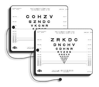 Near Vision Card with Cord (letters)-0