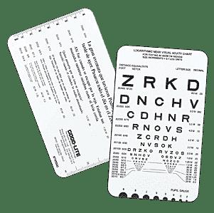Spanish Near Vision Reading Card-0